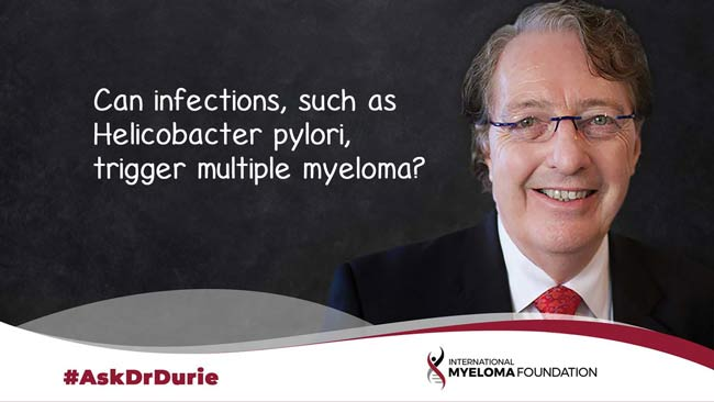 Can infections trigger multiple myeloma?
