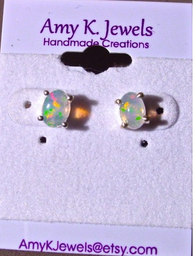 Amy K Earring Light Opal
