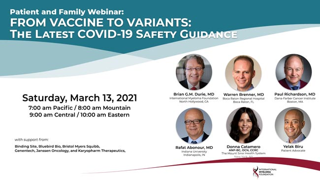 patient family webinar with speakers