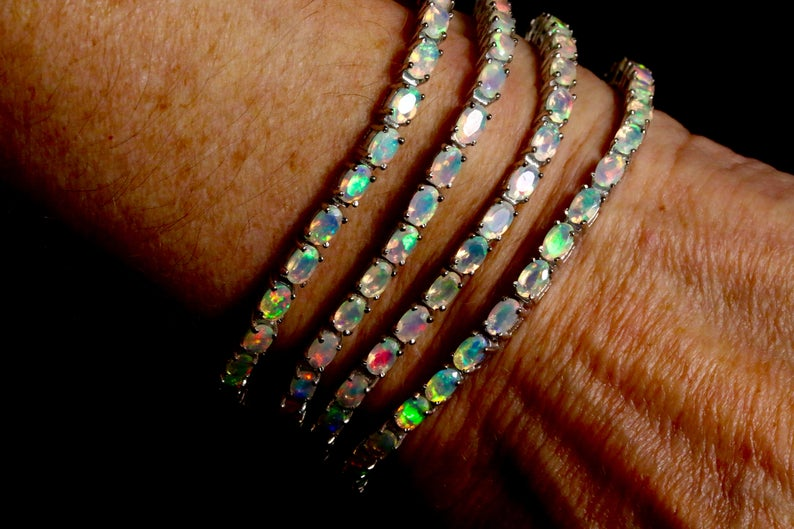 Opal Tennis Bracelet Amy K Jewels 2