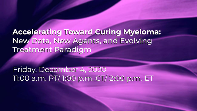 accelerating toward curing myeloma registration
