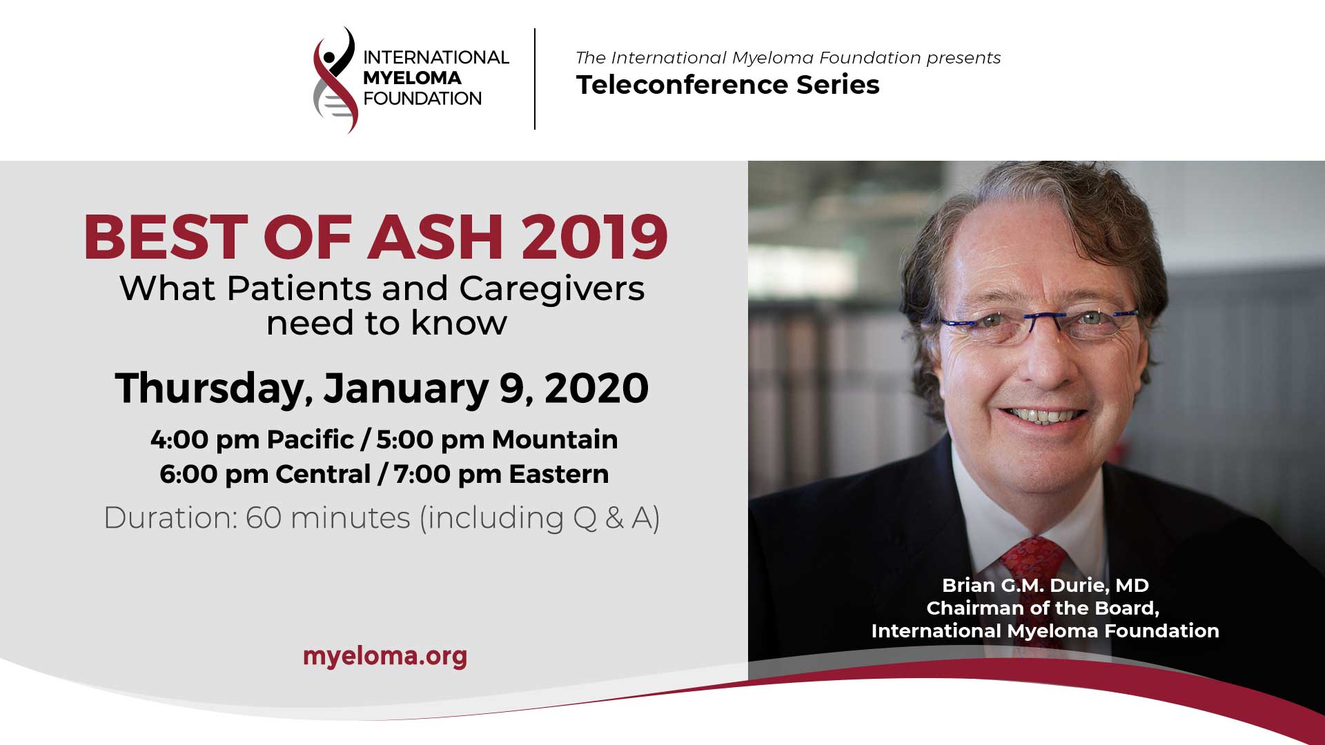 Best of ASH 2019 Teleconference
