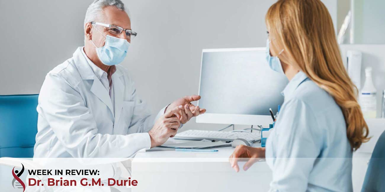 doctor is talking to patient