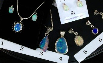 Amy Klitsner Opal Pendants and Earings