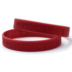 Click here for more information about Myeloma Warrior Silicone Wrist Bands, Red