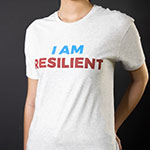Click here for more information about I AM RESILIENT Unisex T-shirt, Light Grey